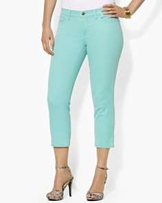 Lauren by Ralph Lauren Plus Slimming Cropped Modern Straight Jeans