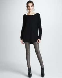 3VNJ Vince Boat Neck Sweater & Zip Ankle Leggings