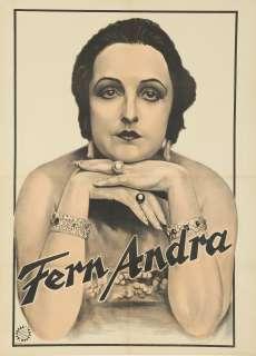 Vintage Poster Fern Andra Silent Film Actress 1920s Reinhardt German