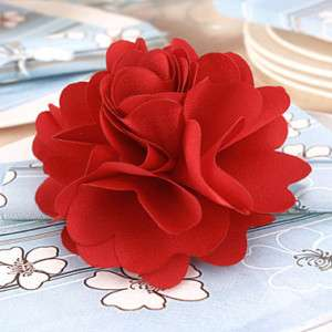 Silky Rose Flower Hat Hair Clip Brooch Pin 4 Wedding Party Prom 16