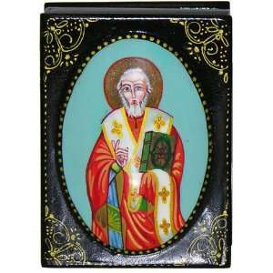 St. Nicholas the Wonderworker Lacquer Box, Orthodox Authentic Product