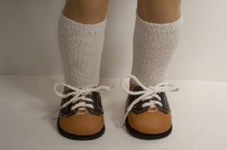 BROWN &TAN Saddle Oxford Doll Shoes For American Girl♥