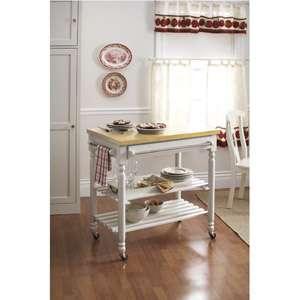 Better Homes and Gardens Autumn Lane Kitchen Cart, White