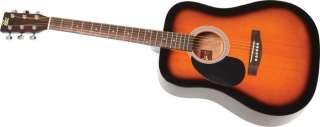 Rogue RG 624 Left Handed Dreadnought Acoustic Guitar Sunburst