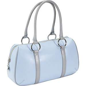 Bisadora Sky Blue Leather Sporty Satchel Bags
