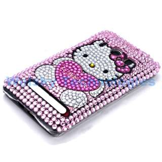 Hello Kitty Bling Rhinestone Crystal Case Cover For HTC EVO 4G EA297