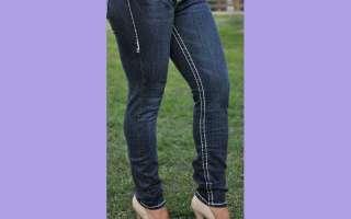 LA Idol jeans SZ 0 15 DARK BLUE white stitching SKINNY FAST FREE
