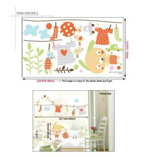 DIY Home Decor Art Wall Sticker Decals ★ Laundry Puppy