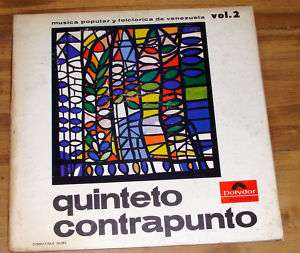 QUINTETO CONTRAPUNTO MUSICA POPULAR VOL 2 VENEZUELA LP