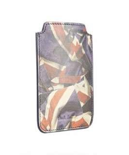 Paul Smith purple union jack leather iPhone case