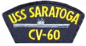 US Navy Ball Cap Patch USS Saratoga CV 60