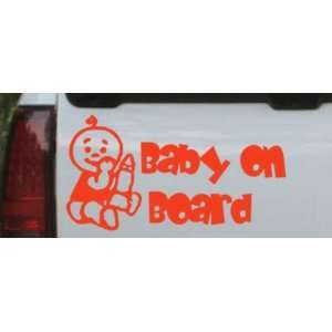 Baby On Board (Boy) Car Window Wall Laptop Decal Sticker    Red 26in X