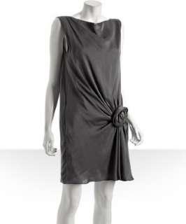 Moschino Cheap and Chic grey silk rosette dress