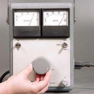 WATT METER VARIAC 4 MCINTOSH MC240 75 TUBE AUDIO POWER AMP
