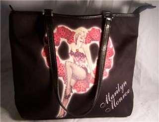 Marilyn Monroe Purse/Handbag Heart/Roses Blk Rhinestone