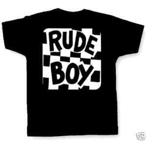 RUDE BOY T SHIRT ska reggae two tone vespa mod