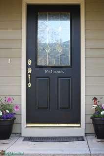 Welcome Front Door Porch Vinyl Decals Stickers 1180
