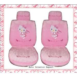 HELLO KITTY UNIVERSAL CAR SEAT COVER SET PINK LUXURY H21X Automotive