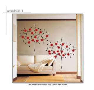 GERBERA TREE ★ MURAL PEEL & STICK DECALS WALL STICKER