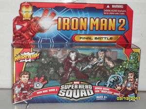 Super Hero Squad IRON MAN 2 WHIPLASH ARMOR DRONE++MORE