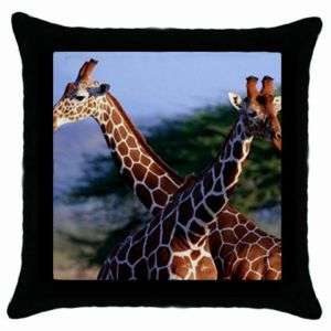 New Giraffe Couple Animal Collection Throw Pillow Case