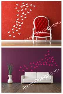 84 Butterflies Wall Art Stickers, Butterfly Wall Decals