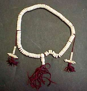 Tibetan Buddhist Prayer Bead Mala 108 Bead White Bone
