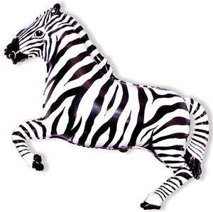 Zebra 26 Balloon, Black & White Jungle Animal Party